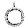 2014 latest design floating living memory charm locket pendant jewelry 30mm silver round with rhinestones origami owl locket