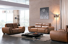 brown color modern leather sectional sofa