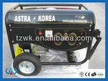 2-6kw WK2900 honda engine hand start, handles and wheels portable generator