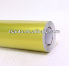 TSAUTOP ROHS Certificate 1.52*20m air Free bubbles brazil yellow metallic pearl film car wrapping paper