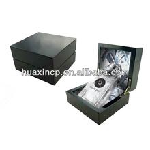 customized black finish wooden perfume box