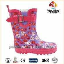 YL7155 Fashion Cute Kid Rubber Rain Boots