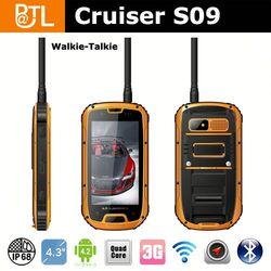 MTK6589 waterproof android phone china,IP68 Cruiser S09 outdoor GPS phone, waterproof android watch phone