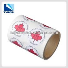 Fabricante de la venta recubierto de código de barras etiqueta adhesiva etiqueta de papel para minoristas