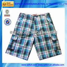 Fashion Short Checked Shorts Garments Stock