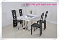 Barbacoa coreana parrilla de mesa y sillas de extremo a extremo restaurante DTS-7B4