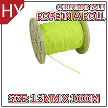 HYropes RR0267 fluorescent yellow Color braided paragliding ropes tandem powered paraglider rope