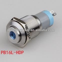 Mounting diameter 16mm waterproof dot led illuminated push button switch(TUV CE SGS)