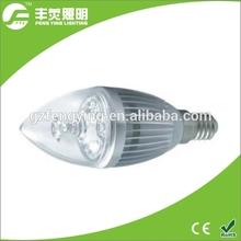 most popular 2015 3W E14 led bulb light, dimmable led candle bulb light