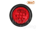 4 inch Round LED Light Stop/Tail/Turn w/ Reflex Lens 4 inch round led truck lights