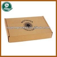 Custom design tuck top corrugated mailing boxes