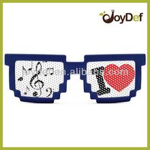 I Love 2014 Code Programmer Pixelated 8-bit Pinhole Sun glasses Branded Eyewear Pixel Pinhole Sunglass