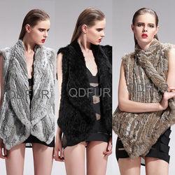QD27585 Brazilian Dresses Online Clothing Store Pashmina Shawl Knitted Rabbit Fur Vest xxx xxx Women Sexy Vest Kyodan Yoga Wear