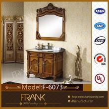 Frank 41-inch classical solid wood bathroom furniture cabinet F-6073