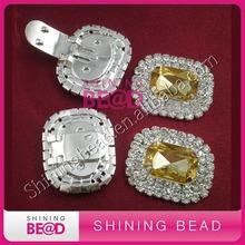 fashion design rhinestone shoe clips for lady shoe