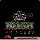 2014 New Custom designs IRISH Princess & St.Patrick's Day crystal hoody, crystal rhinestone