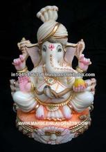 Marble Ganesh Statue, White Marble Ganesh Statue Lord Marble Ganesha Sculpture, Ganesh Murti from Makrana Marble