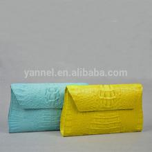 Genuine crocodile skin lady clutch bag_ crocodile purse_crocodile handbag
