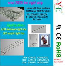 2835 SMD 4mm or 3.2mm width 12 volt led strip for light box led rigid strip