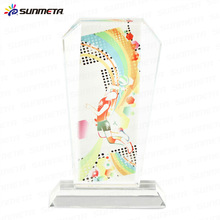 China Supplier Classic sublimation crystal wedding gift crystal trophy