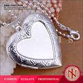 2014 ingrosso argento medaglione cuore galleggiante charms p184