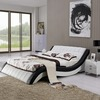 H1217-5 king modern black and white leather bed