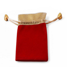 brand name special design oem velvet pouches gift bag