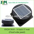 natural ar condicionado 14 polegadas 15 dc12v flat painel solar sótão telhado fã ventilação