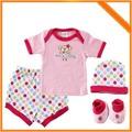 الجملة طفل قديمالخطمي 100% القطن أزياء هدية مولود جديد تعيين على 2014 لملابس الاطفال