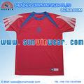 100% deportes de poliéster camiseta de entrenamiento sublimación completo el logotipo del equipo