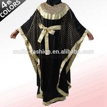 2014 abaya jilbab dubai kaftan kleid großhandel mit pailletten muslim islamische kleidung für marokkanische indien türkei arabische frauen abaya