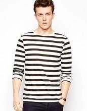 china wholesale men fashion striped t shirt factory