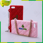 OEM design mobile phone bags & cases,silicone case with chain for iphone 4 4s