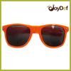 Plastic Frame Fashion Wayfarer Style Custom Orange Sunglasses