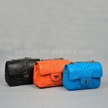 Genuine crocodile mini crossbody shoulder bag_exotic handbag_brand lady bag