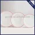 forma redonda 18 pcs prato de louça de porcelana c12 red dot