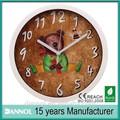 bear10นิ้วเด็กควอทซ์พลาสติกผนังนาฬิกาหน้าปัดที่จะพิมพ์