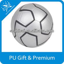 Top quality mini cute soft stuffed soccer ball shape pu foam anti elastic bouncy anti stress ball for promotional gifts toys