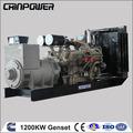 Sıcak fiyat 1200 kw dizel jeneratör 50hz 1500rpm/min, elektrik jeneratörü tek silindirli dizel motor
