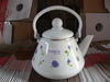 plastic carbon sheet decorated tea kettle with enamel coating with decal