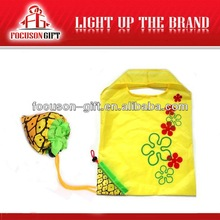 Newest Recycle Best Selling Gift yellow fruit folding bag