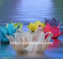 floating lotus water lantern