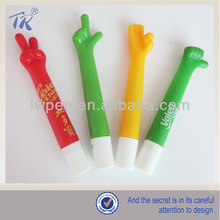 Fashionable Hand Shape Novelty Logo Plastic Pen