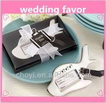 luggage tags wedding favor/airplane luggage tags wedding favor