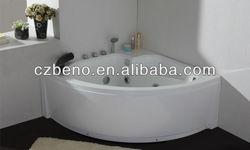 BN-135 Corner massage bath tub,acrylic material,multifunction shower head and jet, small bathtub