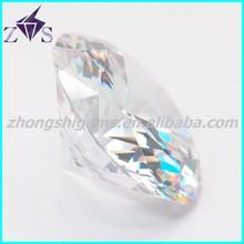 high quality shining cubic zirconia round shape gemstone 7mm round