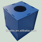 Light weight Eco-friendly corrugated plastic donation box/bin
