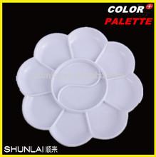 8.8 cm flower white color plastic paint palette