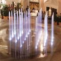 Cor mudando interior land fonte em o hotel ou shopping