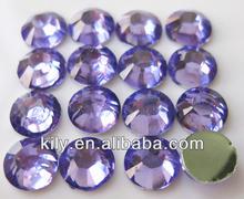 Hot fix quality korea crystal dmc rhinestones,violet color